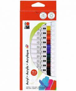 Set 12 Culori Acrilice 12 ml, Marabu