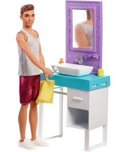 Set de joaca Barbie, Mobilier si papusa Ken FYK53