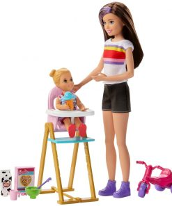 Set Papusa Barbie Family, Mamica si bebelus