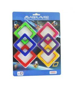 Joc de constructie magnetic Magplayer, 6 piese, 3 - 10 ani