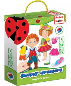 Joc educativ magnetic Snappy dressers Roter Kafer, 3 ani+