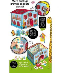 Joc Montessori Casuta animalelor fantastice Lisciani, 3 ani+