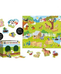 Joc tactil Montessori Ferma Lisciani, 3 ani+, puzzle inclus