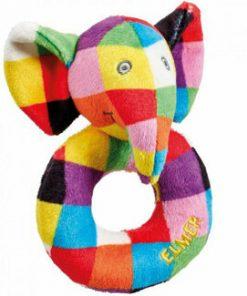 Jucarie zornaitoare din plus Elefantul Elmer, 12 cm
