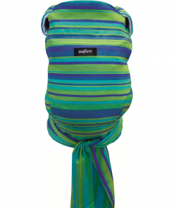 Marsupiu Ergonomic Joy N23 Womar Zaffiro, 3 luni+, 4.5 - 20 kg, Albastru/Verde