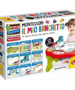 Masuta de activitati Montessori Lisciani, 58.8 x 38.8 x 12.7 cm, 3 ani+, Multicolor