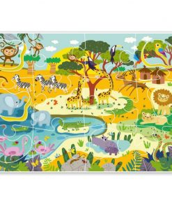Puzzle Animale din Africa, 18 piese, 2 ani+