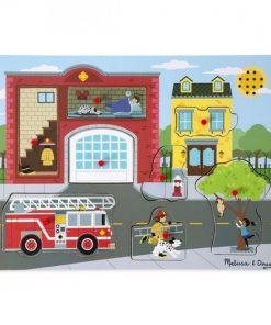 Puzzle cu sunete Brigada de pompieri, Melissa and Doug