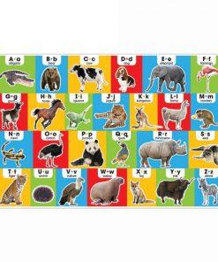 Puzzle de podea Alfabetul in engleza Melissa & Doug, 24 piese, Multicolor
