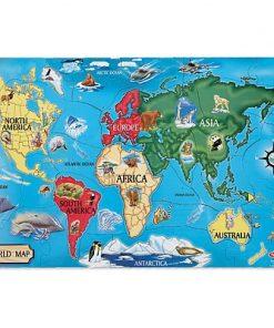 Puzzle de podea Harta Lumii World Map Melissa and Doug, 33 piese