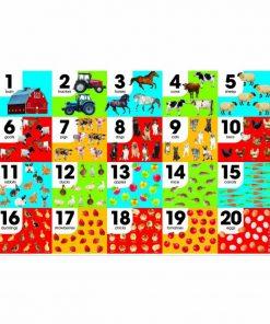 Puzzle de podea Numara animalele Melissa & Doug, 24 piese, 3 ani+