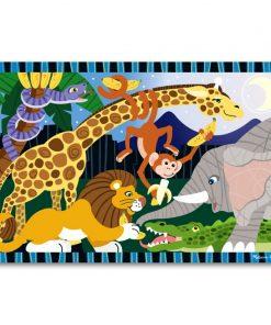 Puzzle de podea Safari Social, Melissa and Doug, 24 piese