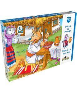 Puzzle Noriel - Capra cu trei iezi (100 piese)