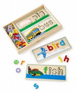 Puzzle Primele cuvinte, 60 litere din lemn