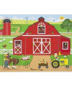 Puzzle sonor Ferma Animalelor Melissa and Doug, 2 x AA, 30 x 22 cm