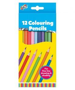 Set 12 creioane de colorat Galt, 4 ani+