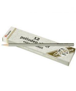 Set 12 creioane hexagonale Goldline Heutink, argintiu metalic