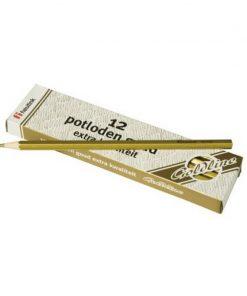 Set 12 creioane Goldline HB Heutink, lemn galben