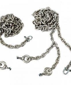Set lant pentru leagan din cauciuc cu lant negru