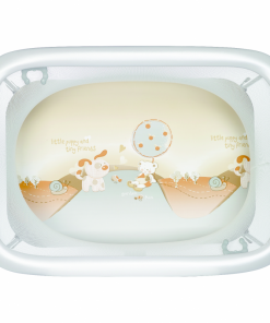 Tarc de joaca Carino Plebani, 72 x 103 x 80 cm, 6 luni+, gri