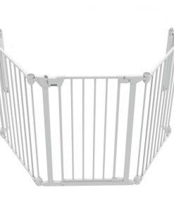 Tarc de siguranta modular Noma, inaltime 73 cm, 3 panouri Snap-Fix, 6 luni-2 ani, Alb