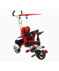 Tricicleta Baby Mix, 80 x 50 cm, prindere in 5 puncte, maxim 30 kg, 18 luni+, Rosu
