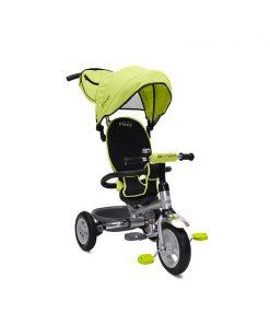 Tricicleta Flexy Plus Moni, 100 x 59 x 101 cm, gentuta inclusa, maxim 30 kg, 3 - 6 ani, Verde