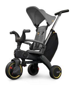 Tricicleta Liki Trike Grey Hound Doona, centura prindere, pedale detasabile, 10 luni+