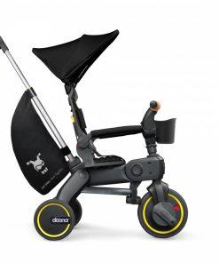Tricicleta Doona Liki Trike S5, suporta 20 kg, 10 luni - 3 ani, Nitro Black