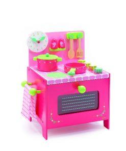 Mini bucatarie lemn roz djeco