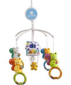 Carusel muzical sun baby 011 cu lampa, sunete si jucarii