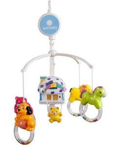 Carusel muzical sun baby 012 cu lampa, sunete si jucarii
