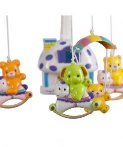 Carusel muzical sun baby 013 cu lampa, sunete si jucarii