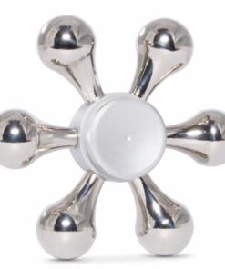 Fidget Spinner, Demontabil, Metalic, Hexagon, Argintiu