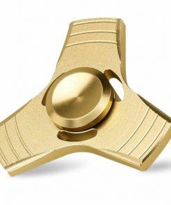 Fidget Spinner Jucarie Antistres De Metal Cu Orificii Auriu 1