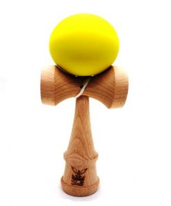 Kendama Ball Originala Lemn Fag Mat Grip Galben