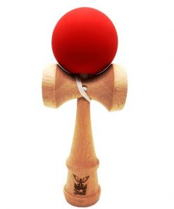 Kendama Ball Originala Lemn Fag Mat Grip Rosu