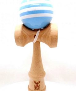 Kendama Ball Originala Stripe Alb Lemn Fag Bleu