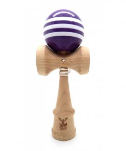 Kendama Ball Originala Stripe Alb Lemn Fag Mov