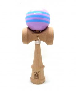 Kendama Ball Originala Stripe Bleu Lemn Fag Mov