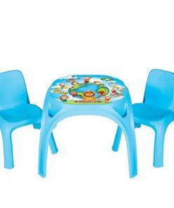 Masuta cu doua scaunele King Study Table Blue