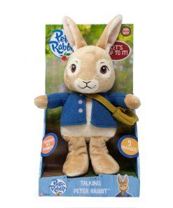 Peter rabbit | jucarie vorbitoare din plus, 24 cm