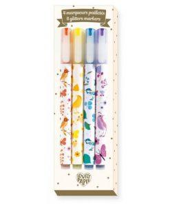 Set carioca marker cu sclipici djeco