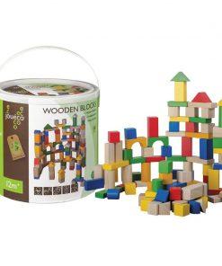 Joueco - Piese multicolore educative, 100 bucati