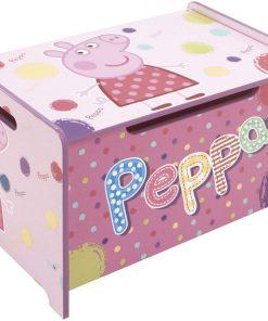 Ladita din lemn pentru depozitare jucarii Peppa Pig