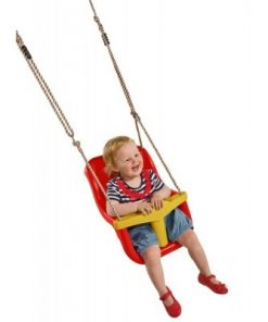 Leagan pentru copii Luxe PP rosu galben 4310