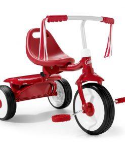 Tricicleta pliabila Radio Flyer Fold 2 Go, Rosu