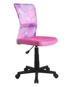 Scaun birou copii mesh HM Dingo roz Roz