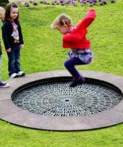 Trambulina rotunda diametru 1.90 m pentru spatii publice ####