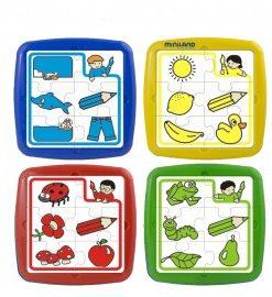 Set de 4 puzzle educative - Miniland